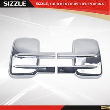 Triple Chrome Plated Towing ABS Mirror Cover For Chevrolet Silverado 1500 2500 3500 Heavy Duty 2003-2015