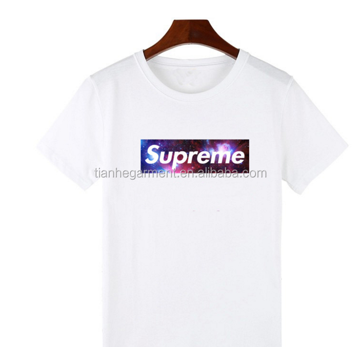 Supreme printed basketball pure half sleeve T shirt male