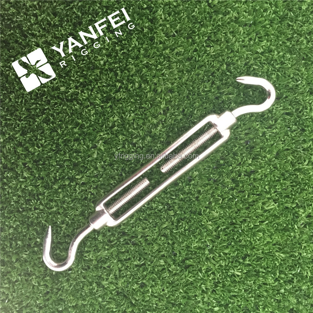 10mm Hook//Hook Turnbuckle STAINLESS STEEL Open Body Rigging Screw FREE P+P