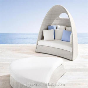 Synthetic rattan daybed/poly rattan sunbed/outdoor rattan furniture