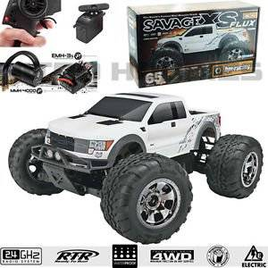 HPI 1/10 Savage XS Flux Ford F-150 Raptor SVT 4WD Mini Monster Truck RTR w/Radio