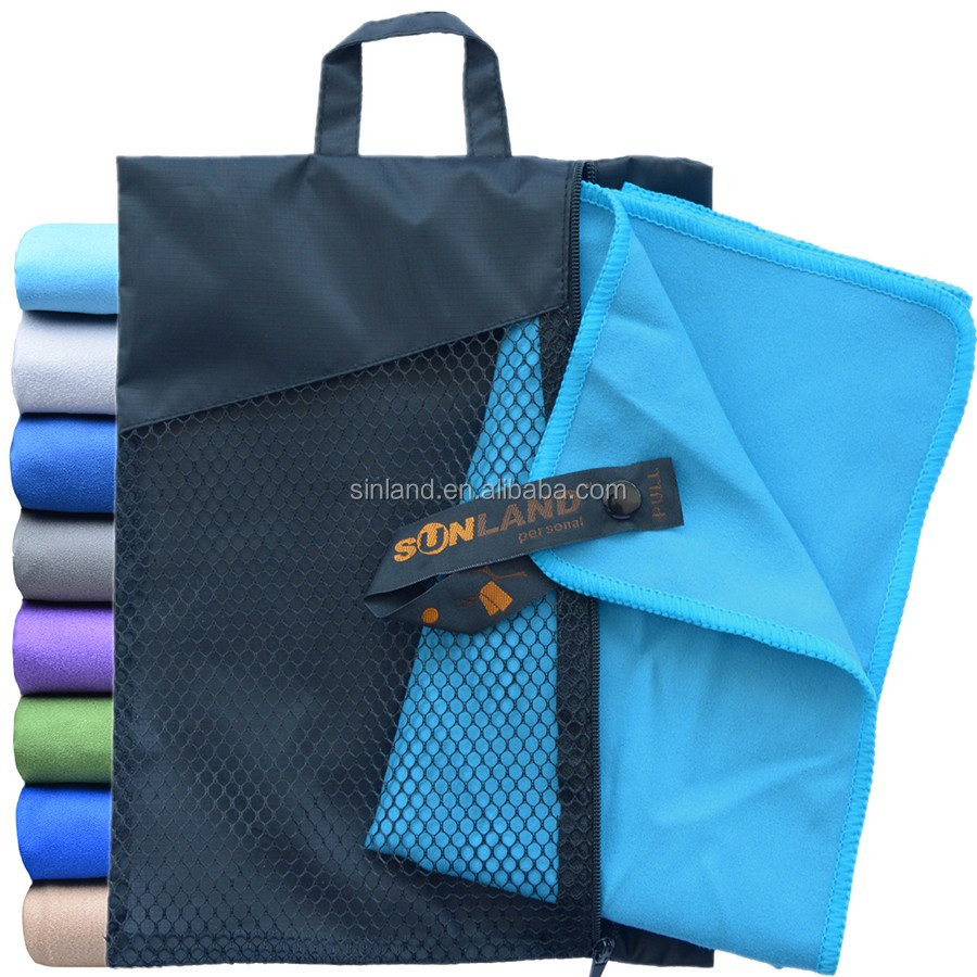 Wholesale Custom Ultra Compact Fast Drying Microfiber Gym Travel Sports <strong>Towel</strong>