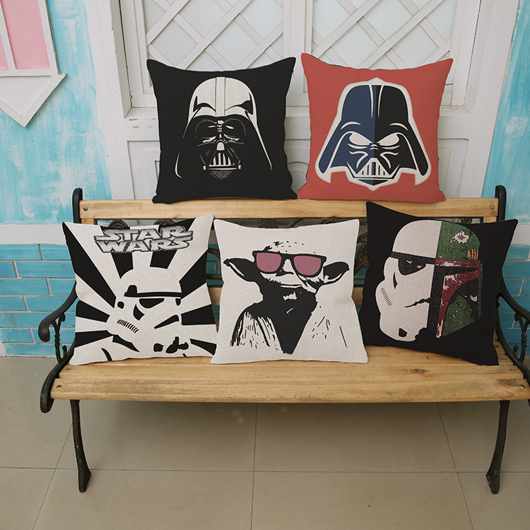 Europe America Square Star Wars Wall Stickers pattern print luxury home decoration Car sofa seat cushion cushions pillow