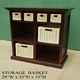 HOT Europe wholesale solid wicker basket drawers wooden cabinet