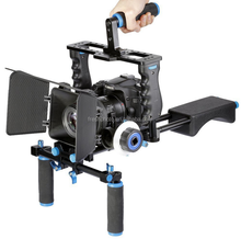 handheld gimbal camera stabilizer china with dslr cage shoulder brackets rig follow focus matte box