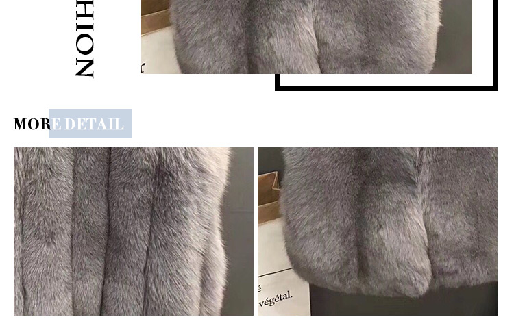 Hot sale real short vest luxury brand grey fox fur waistcoat for girls