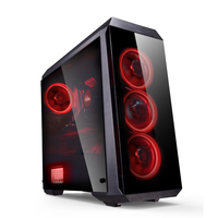 High Quality Gaming Computer Case With RGB Fans&Tempered Glass Desktop Case PC Gamer