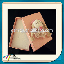 Handmade Jewelry Paper Box Birthday Gift Packing Boxes with Cloth Doll