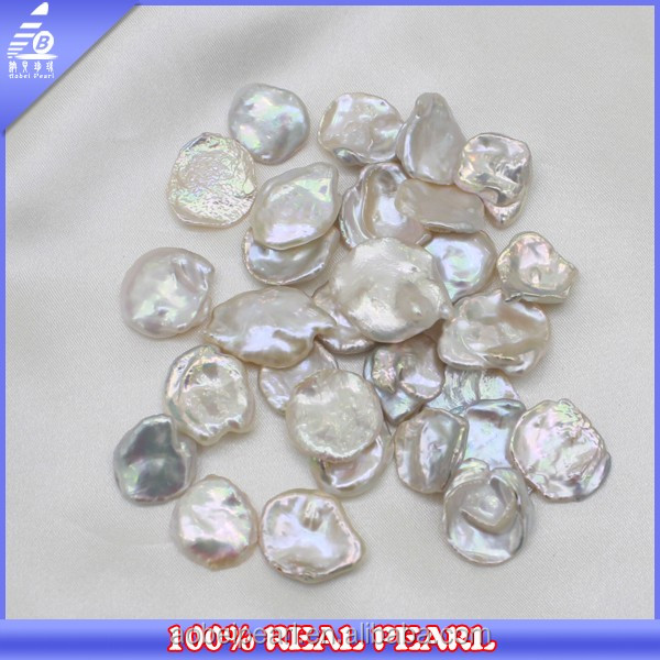 High Quality 16-20 MM AAA 100% Real Large White Keshi Natural Color Pearl
