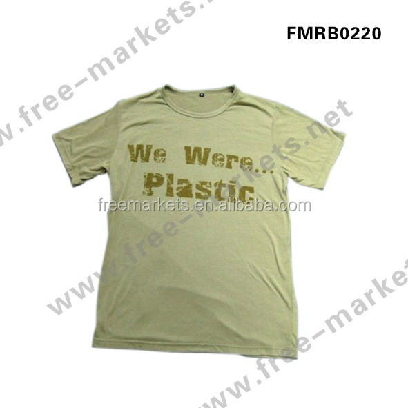 Recycled PET bottle ECO Friendly material T shirt jersey Tshirt