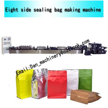 Eight side sealing bag making machine eight side seal bag standing pouch bag making machine zipper pouch making machine