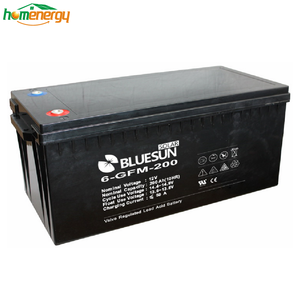 Bluesun battery charge gel battery 12v 250ah solar batteries power with Certificate