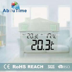 Decoration window shape lcd analog clock display with chuck