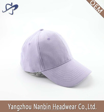 OEM suede pure color 6 panel baseball cap with metal buckle