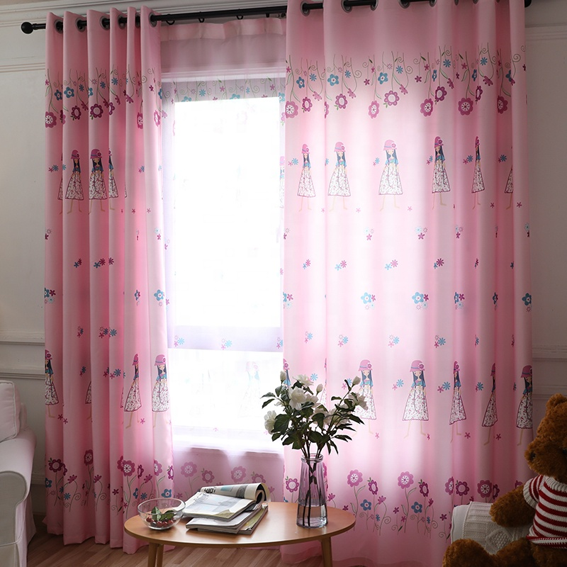 Pink Princess Cartoon Curtains For Living Room Children Embroidery Blackout  Curtains For Baby Girls Bedroom - Buy Blackout Curtains For Baby Girls ...