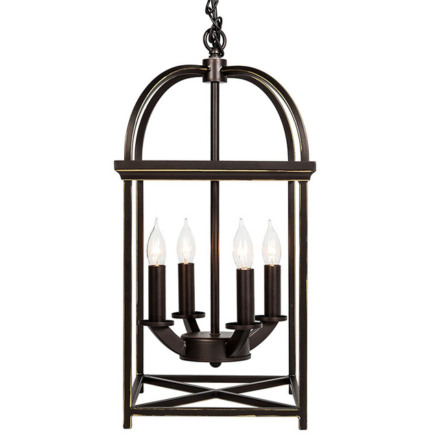 Buy cheap china chandeliers at prices products find china bronze finish with hand painted gold trims foyer lantern 4 light chandelier aloadofball Choice Image