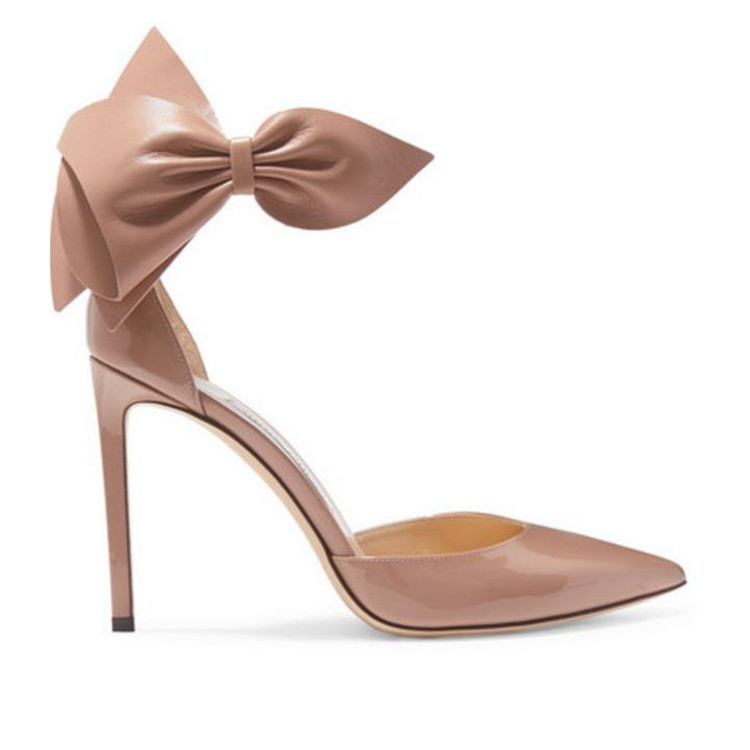 New women genuine bow leather knot dress stylish shoes wholesale r4HB1yrp