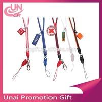 New design plastic zipper lanyard/lanyard strap with Label