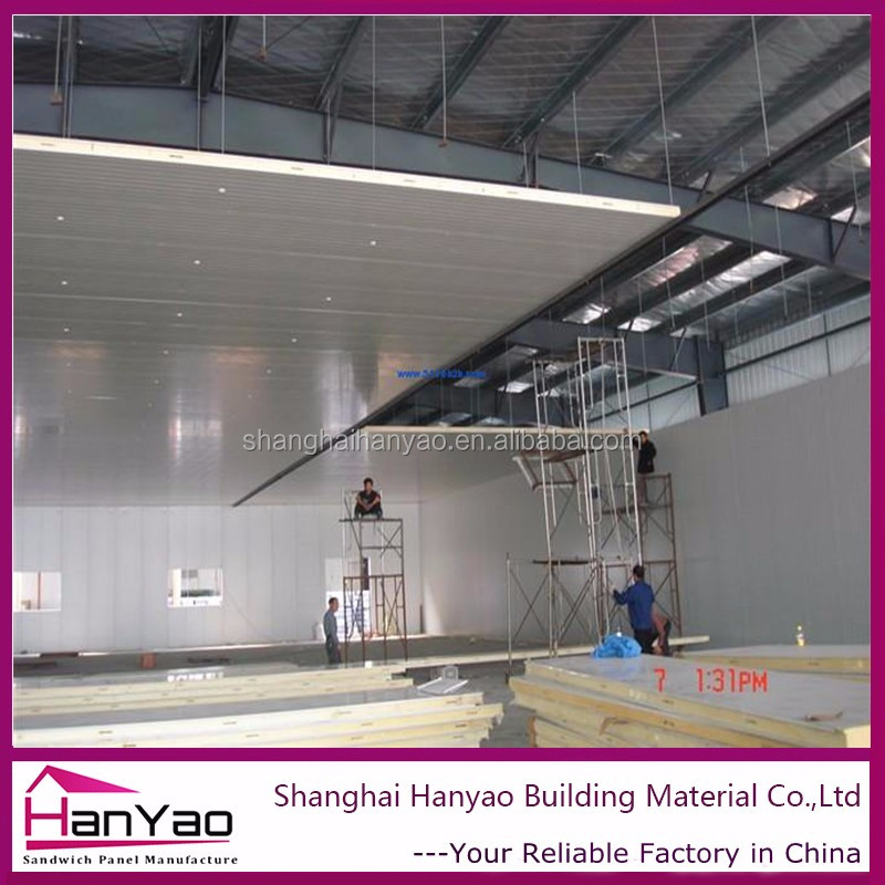 Pu Stainless Steel Sandwich Panel For Steel Factory
