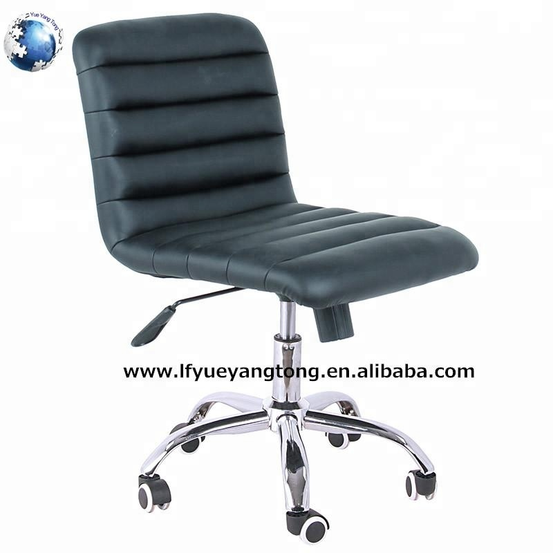 swivel chair price/faux leather low back office chair no arms/small conference room chair