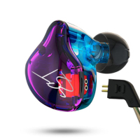 KZ-ZST Muti-color Armatured Headphone Audiophile Bass Dual Driver Earphone With Wire Control