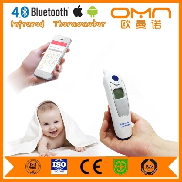 Handheld digital fever alarm bluetooth multi function IR baby fever thermometer with FDA CE