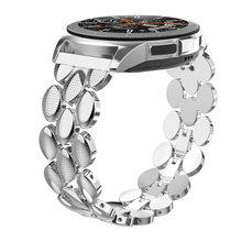Металлический ремешок из нержавеющей стали для samsung Galaxy Watch 20 мм ремешок для gear S3 Frontier/Galaxy Watch Active 40 мм металлический ремешок(Китай)