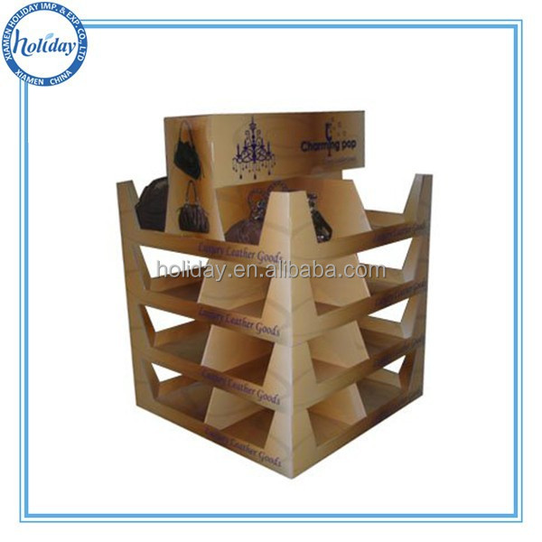 Holiday department store corrugated cardboard retail pallet display for handbags