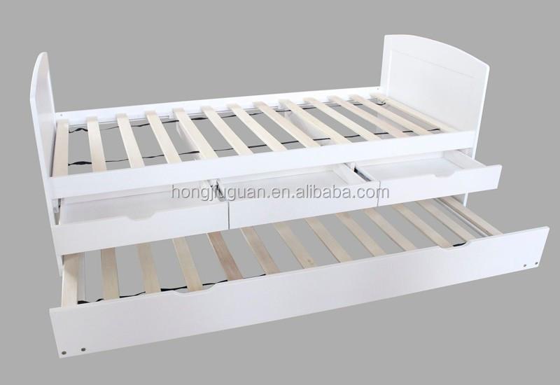 Enkele houten dag bed met onderschuifbed en laden kast bedden product id 6011 - Lit de jour barcelona ...