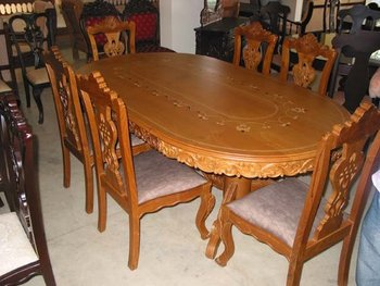 Fabulous Teak Dining Table With Chairs Buy Handicrafts Product On Alibaba Com Squirreltailoven Fun Painted Chair Ideas Images Squirreltailovenorg