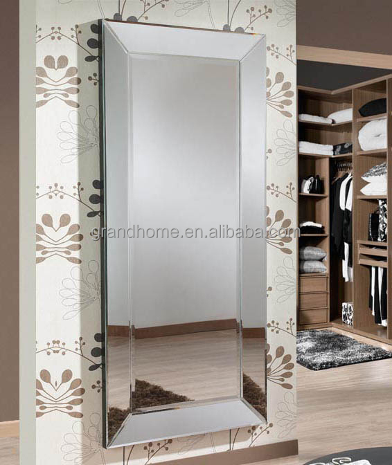 Home Wooden Framed Decor Mirror Rectangular Full Length ...
