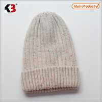100 % Acrylic baby knitted hat winter kids wool hat