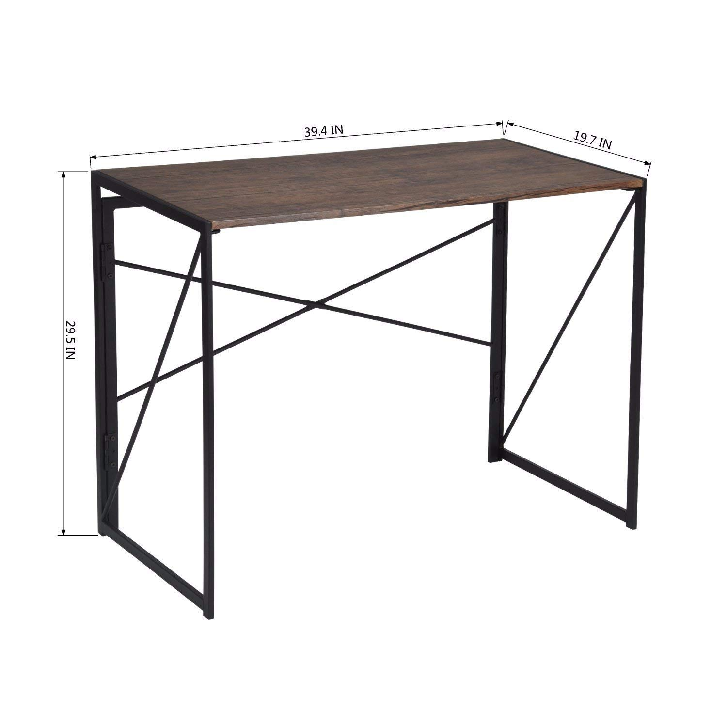 Indoor and Outdoor Study computer Desk Bedroom modern Style Table Modern simple industrial style multifunctional rectangular Table, computer Table home Table, 39.4x19.7x29.5 inches, brown