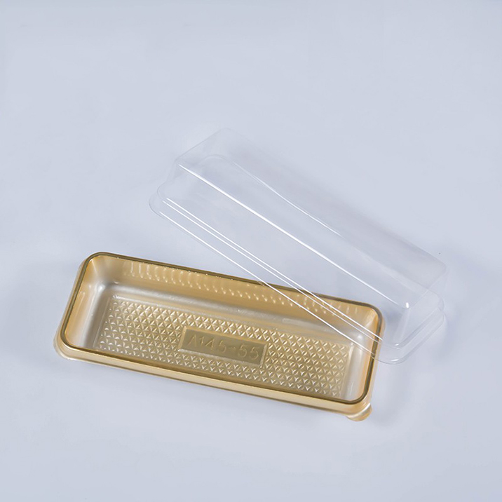 Rectangle Shape Disposable Cake Packaging Food Plastic Tray
