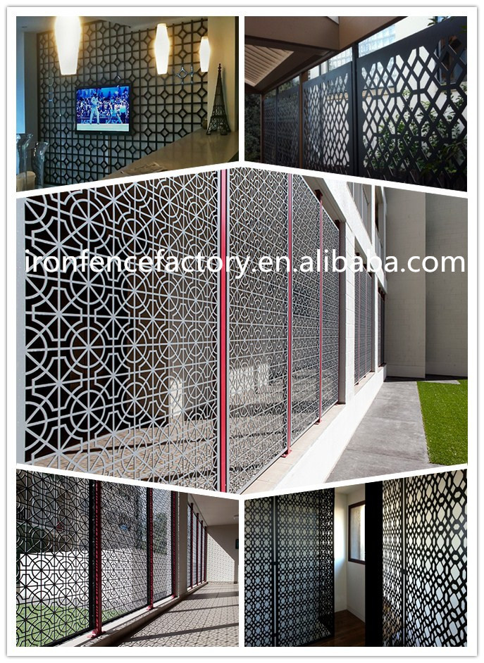 Indian House Laser Cut Wrought Iron Main Driveway Gate