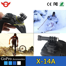 New style adjustable 360-degree Rotation Wrist Mount for GoPros Heros 4 3 3+ xiao mi yi Sport Camera accessories