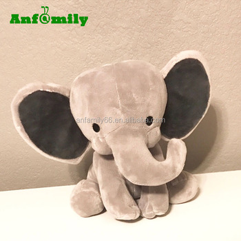 personalized stuffed birth announcement animal elephant plush for