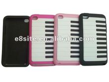 Piano Key Design 3D Silicone Cell Phone Case For iPod Touch 4