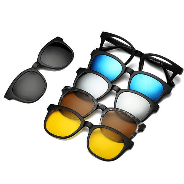 DLC2207A Man hot selling mirror magnetic set polarized sports sunglasses with 5 lenses