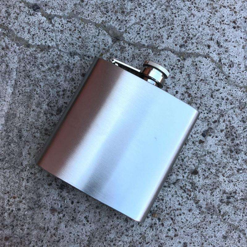 Amazon Hot Sale 6Oz Metal Liquor Flask Stainless steel Whisky Hip Flask