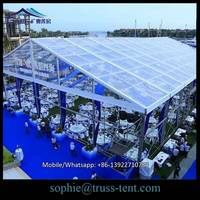 Clear Span Canvas Warehouse Tent with Wind and Fire-resistant Materials