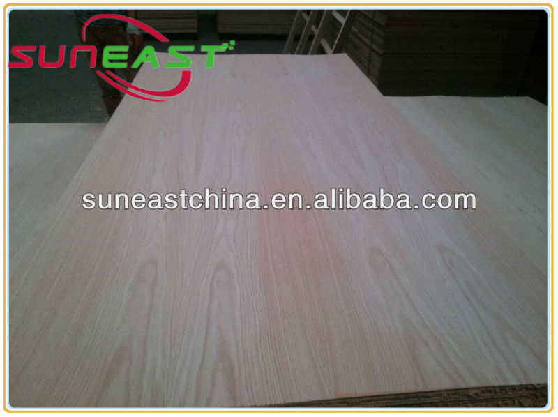 carb certificate 3mm fancy red oak plywood for USA market