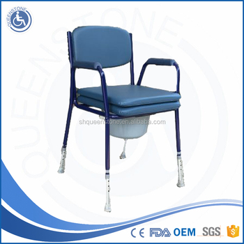 Walk Ergonomics Design Shower Commode Chair For Elderly Without Wheels