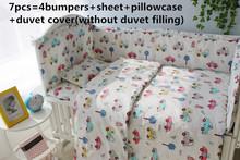 2016 6 7PCS Baby Crib Cot Bedding Set baby bed linen bebe jogo de cama Duvet