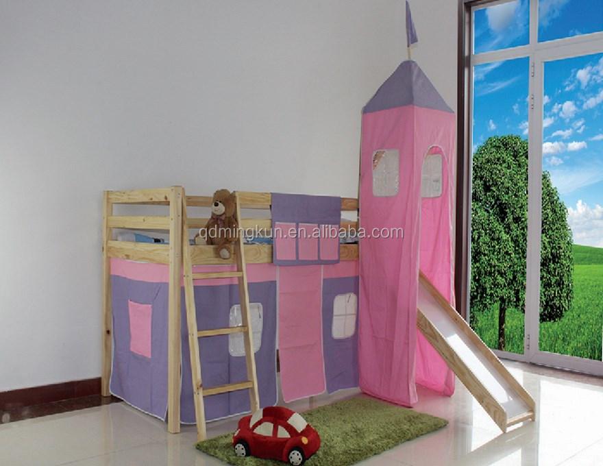 Letti A Castello Con Scivolo : Moda legno massello letto a castello per bambini per bambini letto
