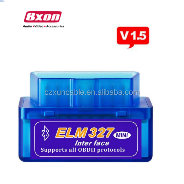 New Super Mini ELM327 V1.5 Bluetooth OBD2 Adapter Auto Scanner obdII Bluetooth ELM 327 Support Tutti OBDii
