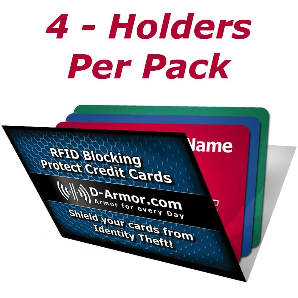D-Armor Rfid Blocking Wallet Sleeves Credit Card Holder (4/pack)