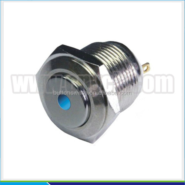 IN17 3A 16mm metal led indicator light stainless steal indicator switch water level high flush riser indicator 250V