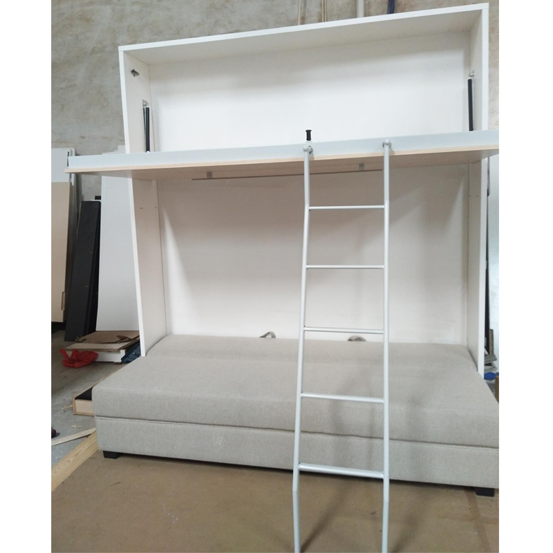 High Quality Gas Spring Murphy Bunk Beds With Sofa For Kids