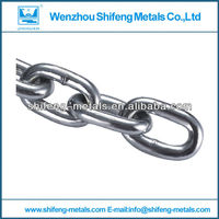 din 766 galvanized short link chain